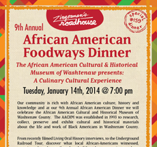 9th Annual African American Dinner – Tues, January 14
