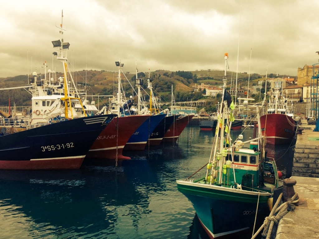 Fishing boats in Getaria