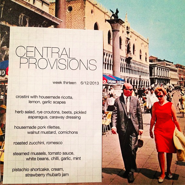 4. All of their menus and event posters feature beautiful vintage photographs.