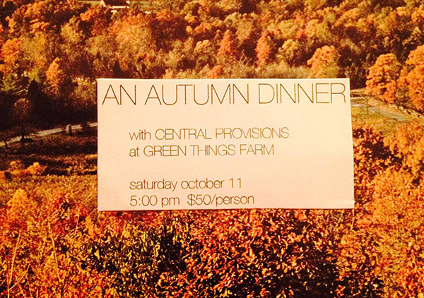 CP Autumn Dinner at Green Things
