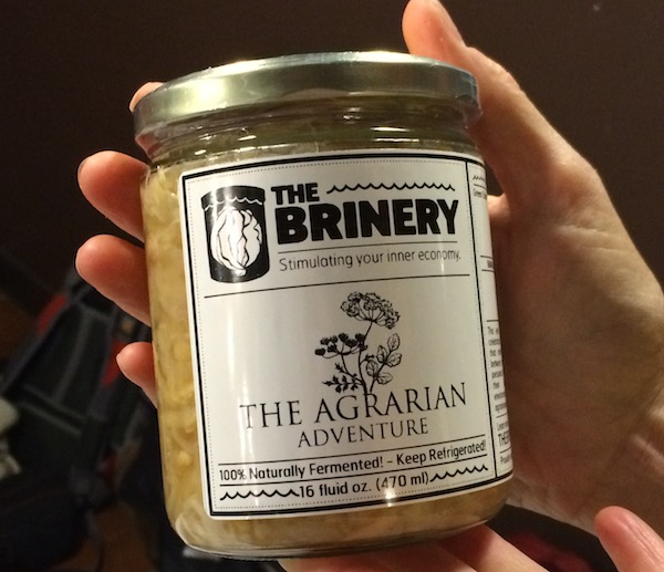Each guest received a jar of delicious Brinery kraut, compliments of David!