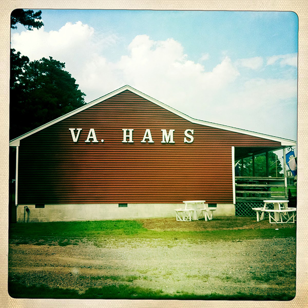 Sam Edwards' ham house in Virginia peanut country.