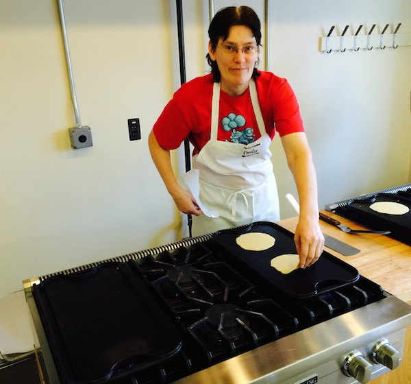 Emily makes tortillas at Zingerman's BAKE!