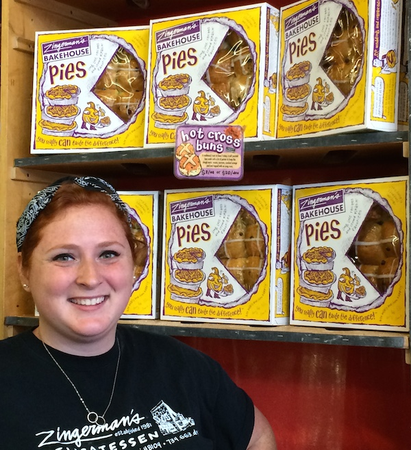Amanda in the Bread Box at Zingerman's Deli