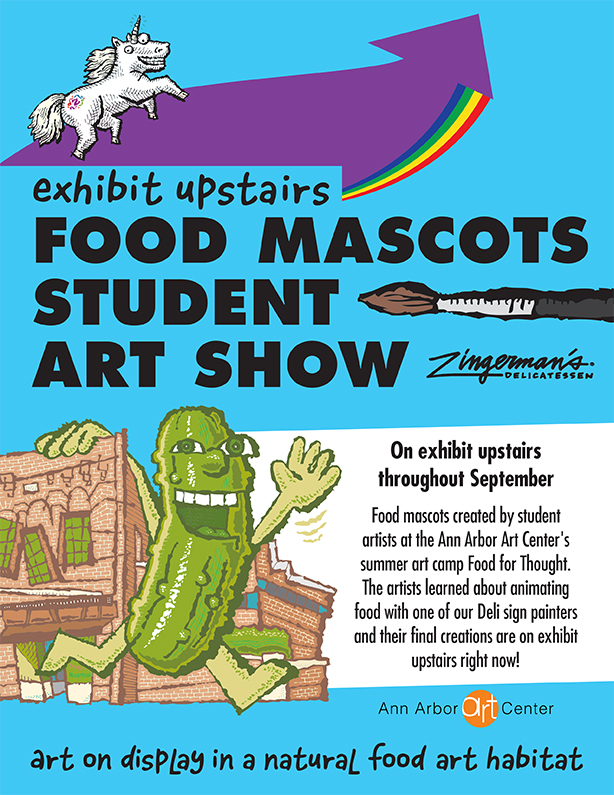 Don't Miss the Food Mascot Student Art Show This Month at the Deli!