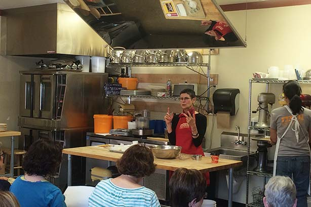 Dorie Greenspan demos her famous Jammers at BAKE!