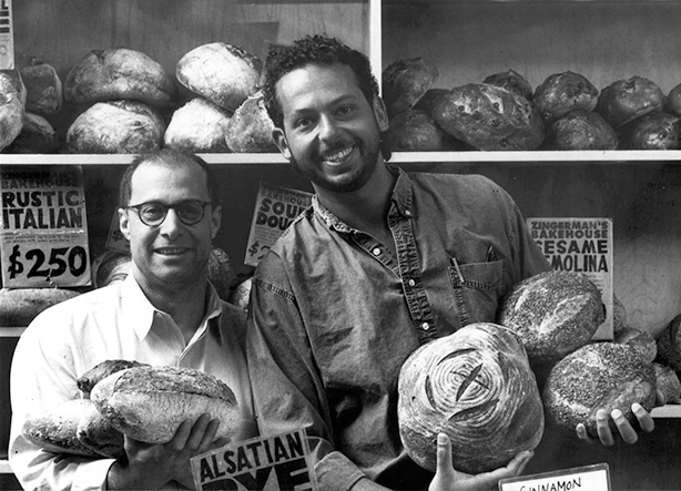 A vintage photo of Zingerman's co-founders Paul Saginaw and Ari Weinzweig