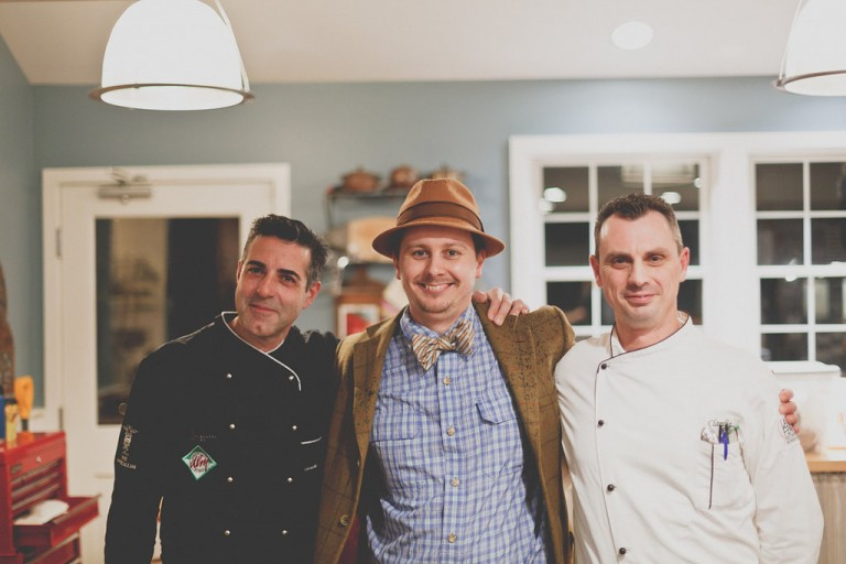 Chef Gioacchino Passalacqua, Chef Kieron Hales, Chef Claudio Ruta from last year's dinner