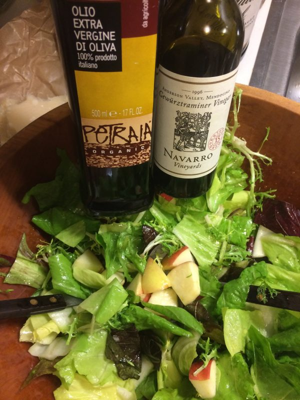 vinegar and salad from Zingerman's Deli