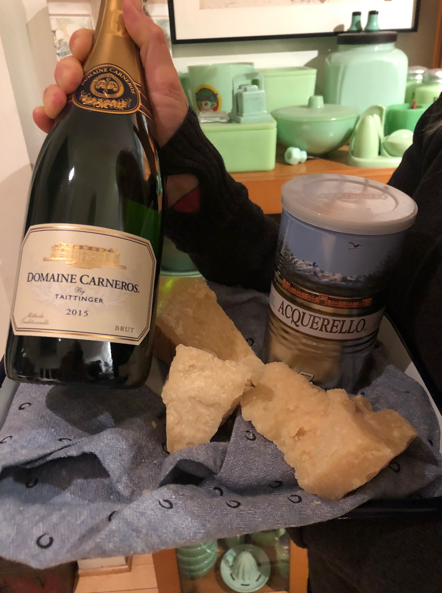 Domaine Carneros champagne with Parmigiano Reggiano